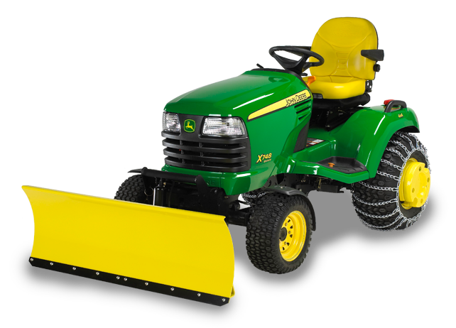 Push Mower Accessories : Cm quot quick hitch front blade snow removal john