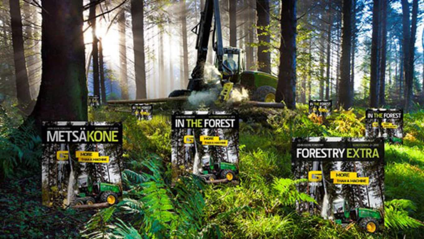 John Deere Forestry customer magazine is called In The Forest