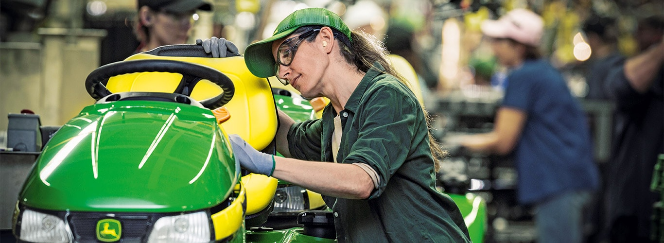 Homeowner, Factory, Assembly Line, Riding Lawn Equipment, Detail