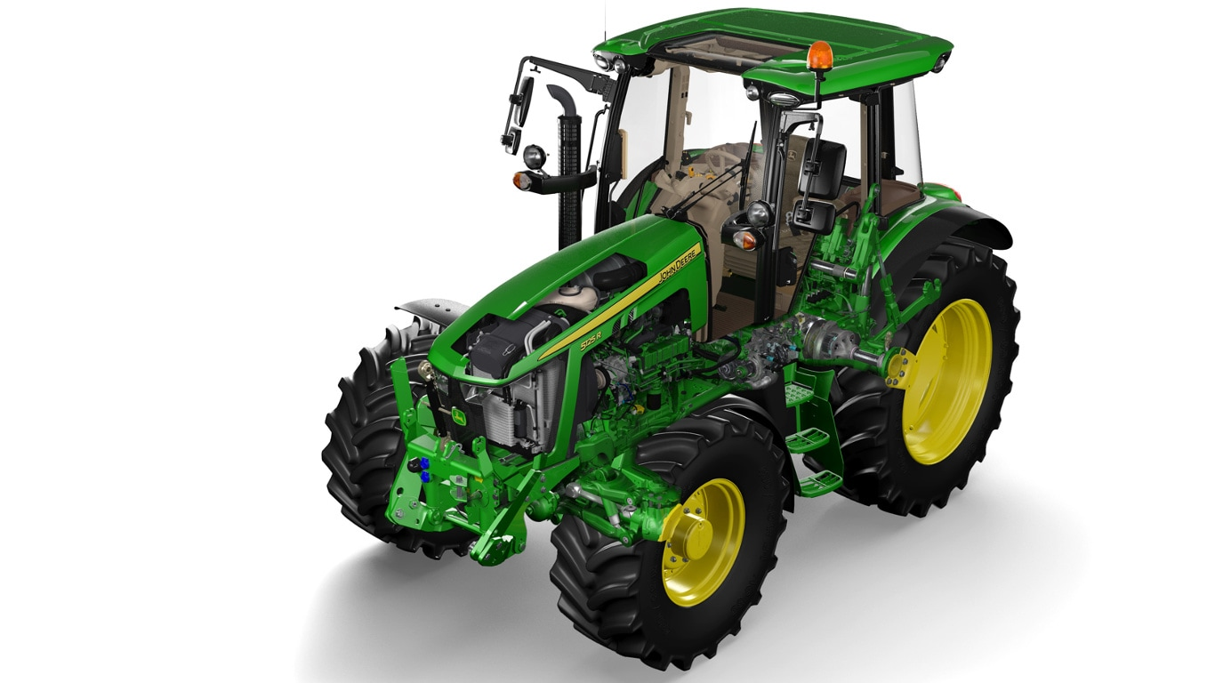 The 400hp 8400R tractor, pictured here equipped with the new StarFire 6000 satellite receiver, now tops the John Deere 8R Series range.