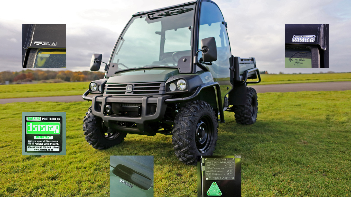 John Deere is now fitting the CESAR security marking system as standard on all XUV & HPX Gator utility vehicle models sold in the UK & Ireland.