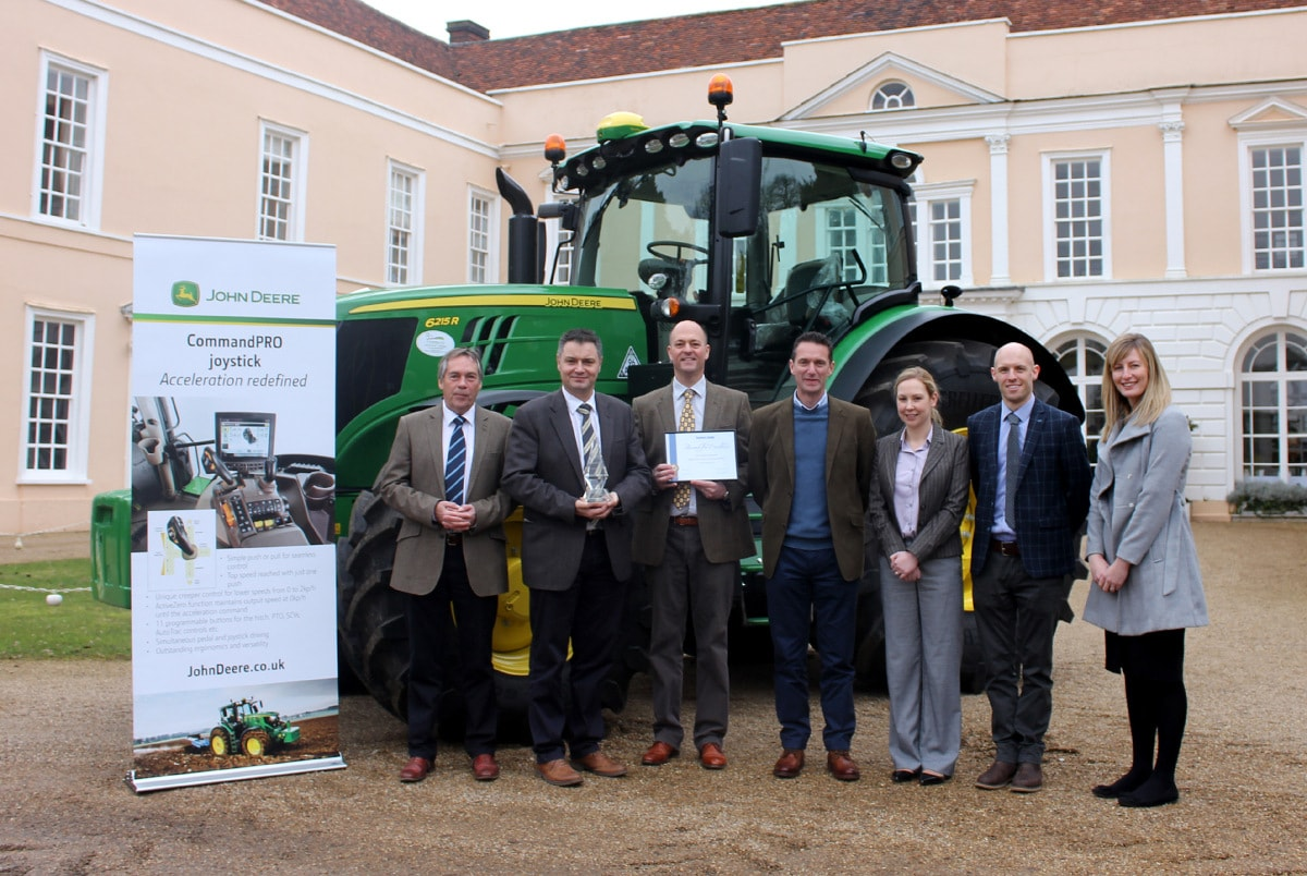 Local dealers P Tuckwell, Ben Burgess and the Doubleday Group also attended the Farmers Guide award presentation at Hintlesham Hall, near Ipswich.