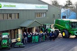 Thomas Sherriff & Co staff at the new John Deere dealership head office premises at Backburn in Haddington, East Lothian.