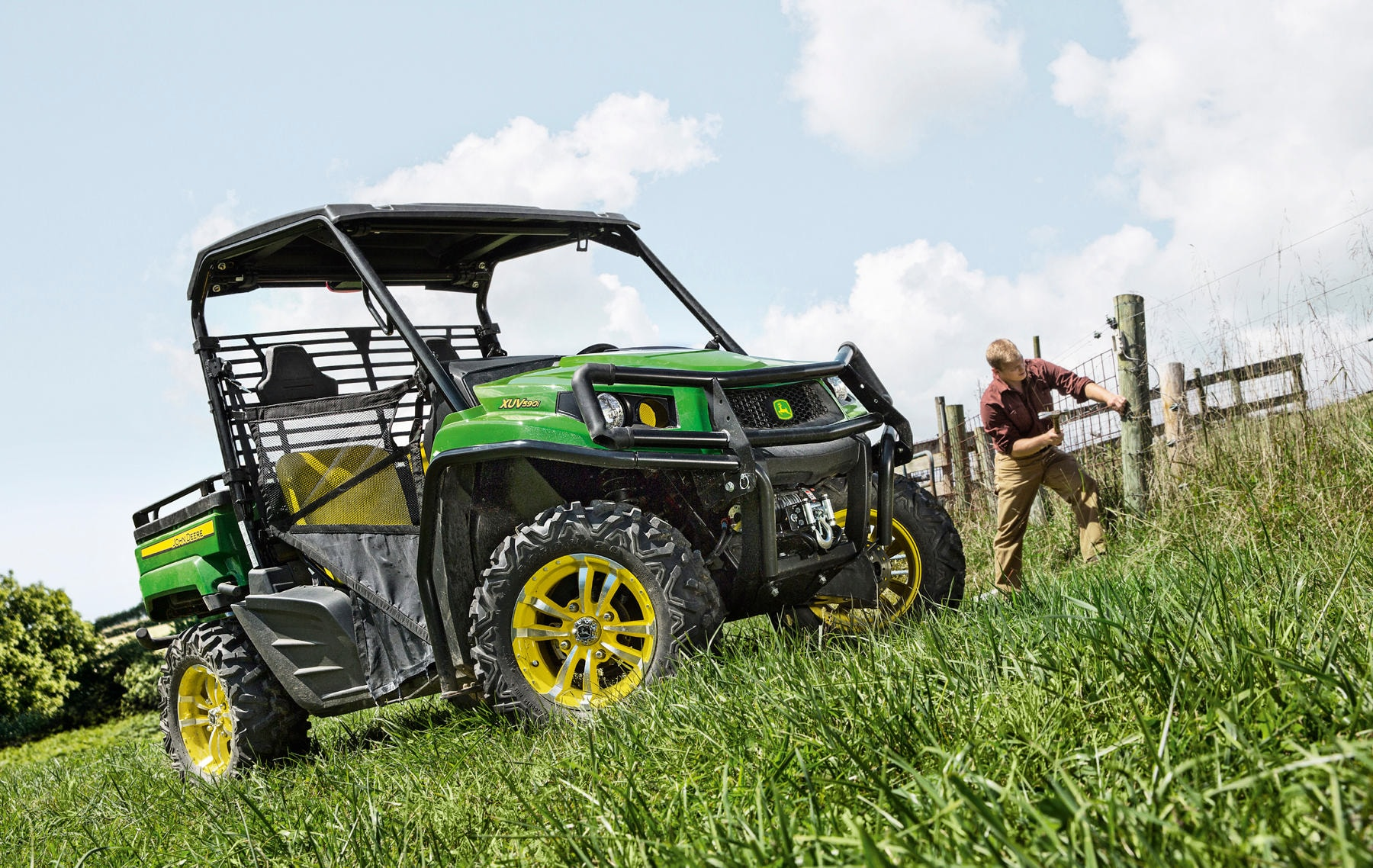 A range of XUV 5 Series Gator utility vehicles will be on display at this  year's