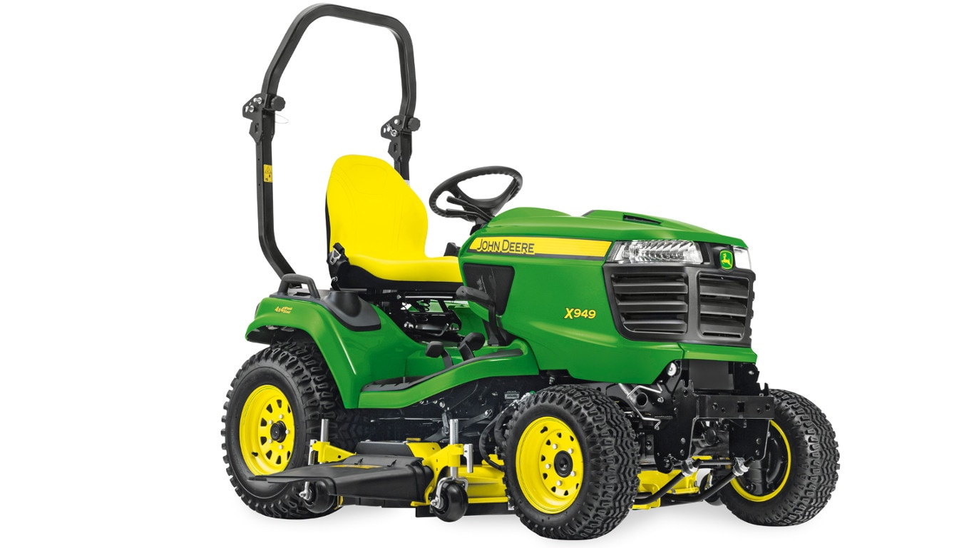 The new X940 Series lawn tractors, including this top of the range X949 model, will be available at John Deere dealers from spring 2018.