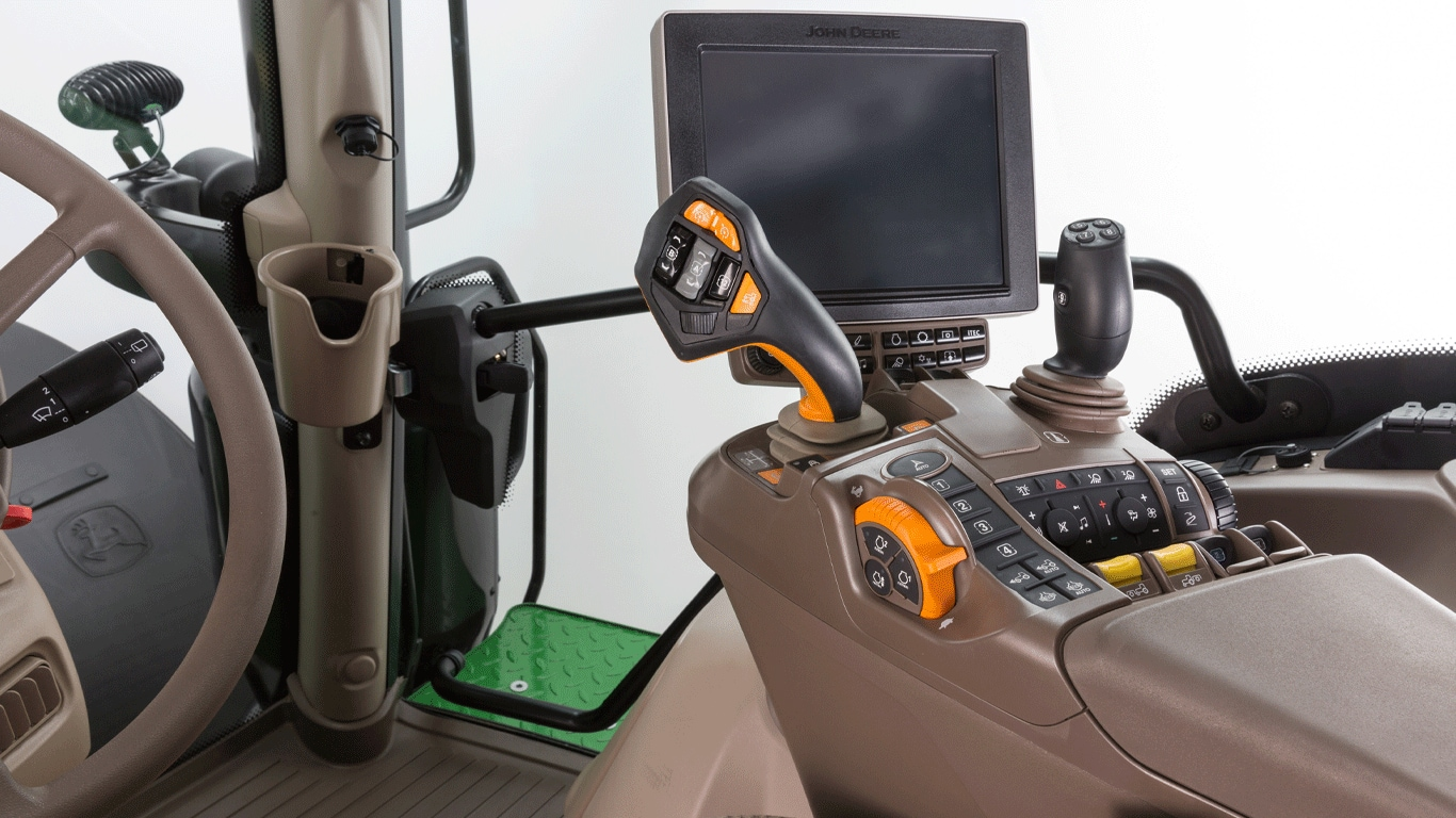 John Deere's CommandPRO joystick is now available for all small and mid-range 6R Series tractors.