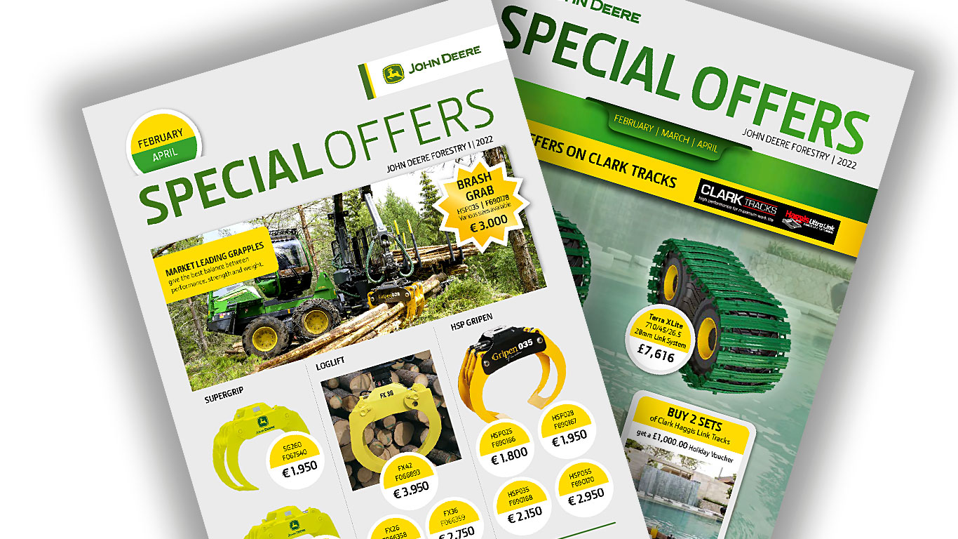 Pages of special offers newsletter Ireland and UK