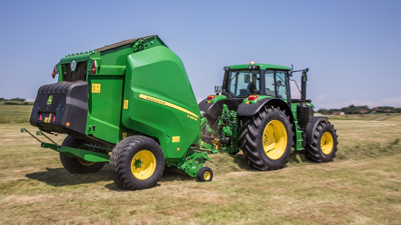 V461m variable chamber balers balers john deere uk ie for Chambre a air tracteur occasion