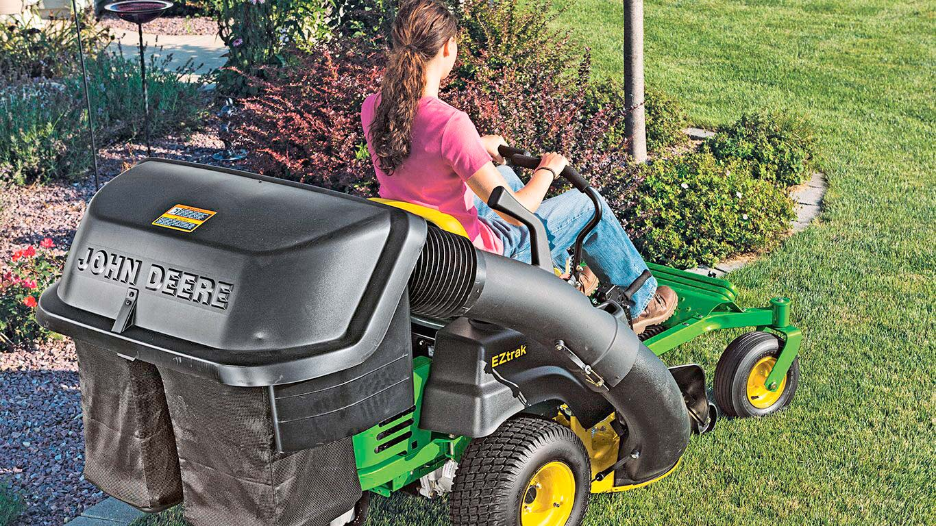 Ztrak Commercial Zero Turn Mowers with optional collection system